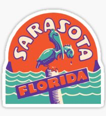 Sarasota Florida Vintage Travel Decal Sticker