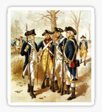Infantry Of The Revolutionary War Sticker