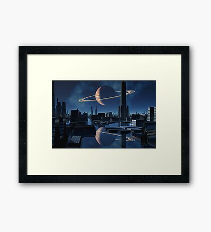 City of Shadow and Reflection Framed Print