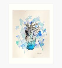 Set Free the Heavy that Weighs Down Your Heart Art Print