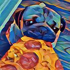 Pizza pug  by Beccaanne94