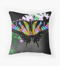 Multi-Colored Butterfly Throw Pillow