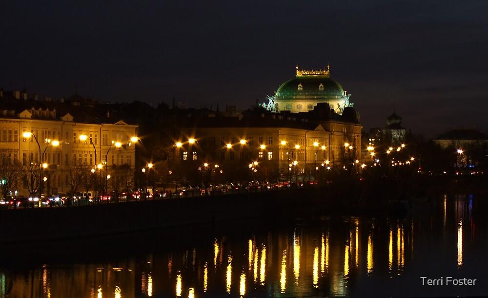Prague at Night by Terri Foster