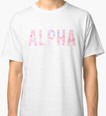 Alpha Pink Marble Classic T-Shirt