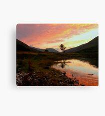 Loch Leven sunset, Scotland Canvas Print
