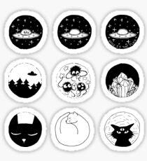 Cats and UFOs - Sticker Set I Sticker