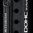 4g63 MITSUBISHI Valve Cover -Samsung -Black/White by Hector Flores