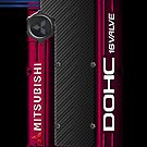 4g63 MITSUBISHI Valve Cover - iPHONE - Barcelona Red by Hector Flores