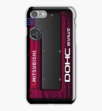 4g63 MITSUBISHI Valve Cover - iPHONE - Barcelona Red iPhone Case/Skin
