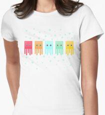 Box Jellyfish (white) Women's Fitted T-Shirt