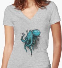 Transfusion Shirt (for light shirts) Women's Fitted V-Neck T-Shirt