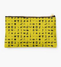 Yellow and Black Studio Pouch