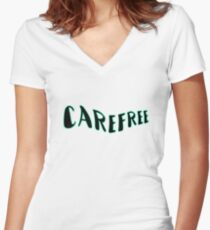 Carefree Women's Fitted V-Neck T-Shirt