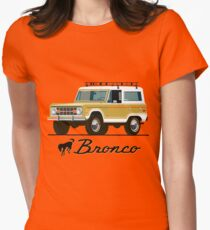 Vintage Bronco Womens Fitted T-Shirt
