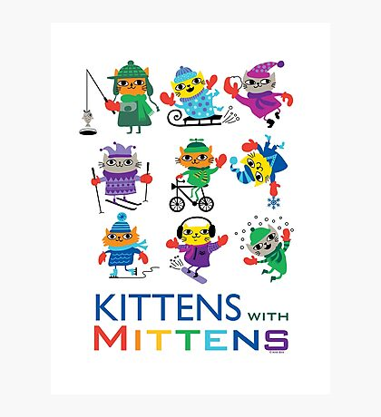 Kittens with Mittens Photographic Print