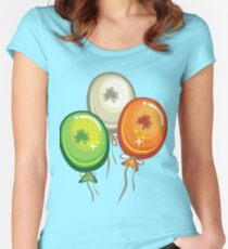 Irish Shamrock Party Shirt Women's Fitted Scoop T-Shirt