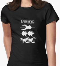 Beijing Special black Womens Fitted T-Shirt