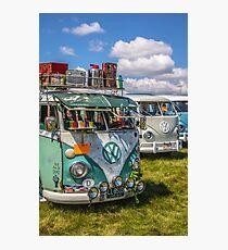 VW vintage buses.  Photographic Print
