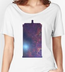 Doctor Who TARDIS - Galaxy Background Women's Relaxed Fit T-Shirt