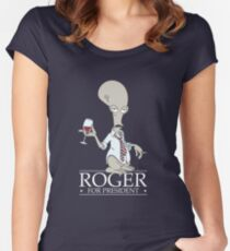 Roger for President Women's Fitted Scoop T-Shirt