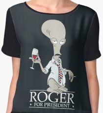Roger for President Chiffon Top