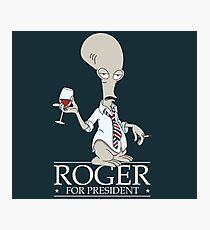 Roger for President Photographic Print