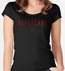 Blade Runner - Replicant - Red Dirty Women's Fitted Scoop T-Shirt