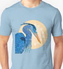 Blue Heron And The Sun Unisex T-Shirt