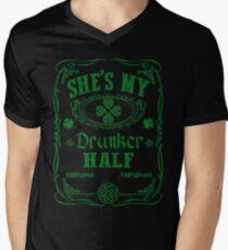 SHE'S MY DRUNKER HALF Men's V-Neck T-Shirt