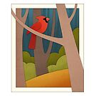Autumn Cardinal by Diony  Rouse