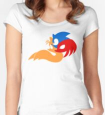 Team Sonic Women's Fitted Scoop T-Shirt