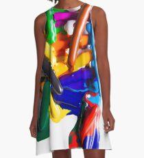 Modern rainbow art A-Line Dress