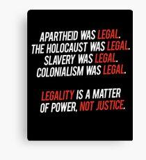 legal. Canvas Print