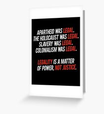 legal. Greeting Card