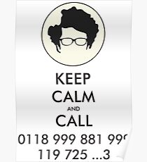 keep calm and call Poster