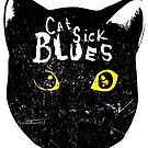 Cat Sick Blues T-shirt by phantasmesvideo