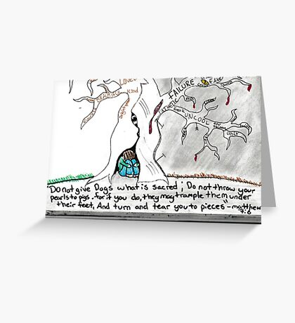 bible quote interpretation Greeting Card