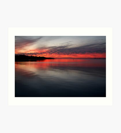 Sunset, Corio Bay Portarlington Art Print