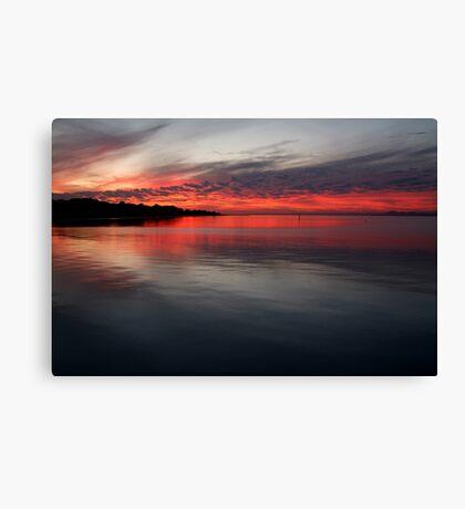 Sunset, Corio Bay Portarlington Canvas Print