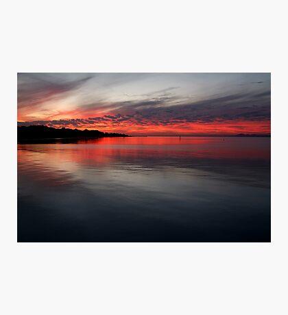 Sunset, Corio Bay Portarlington Photographic Print