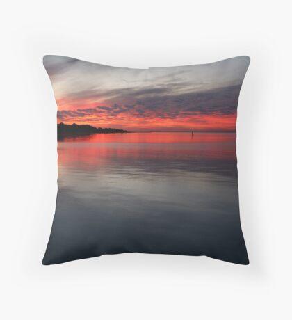 Sunset, Corio Bay Portarlington Throw Pillow