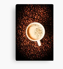 Cup and the coffee store Canvas Print
