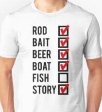 Fishing Check Off List Mens T-Shirt