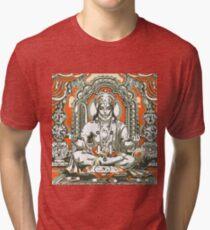 Hanuman Chanting Praises of Lord Rama Tri-blend T-Shirt