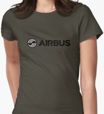 Airbus Aircraft Logo Black Womens Fitted T-Shirt