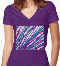 Psychedelic Splash  Women's Fitted V-Neck T-Shirt