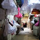Dresses on display in Tripoli, Lebanon by Joumana Medlej