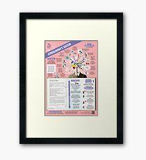 Stanislavsky's System Infographic Framed Print