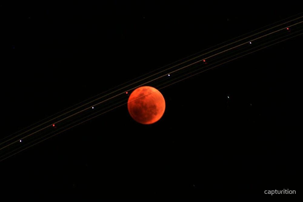 Total Lunar Eclipse Trail by capturition