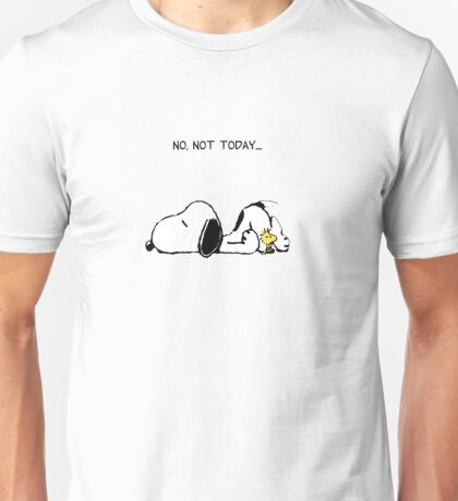 Snoopy No Not Today T-shirt for Lazy People
